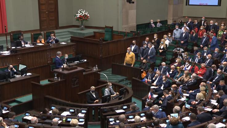"""Krzysztof Gawkowski blokował mównicę sejmową. """"Nie zejdę"""""""