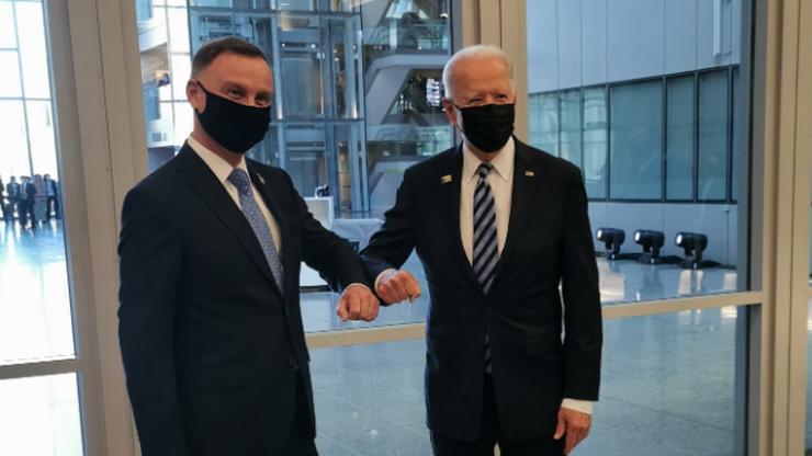 Szczyt NATO. Andrzej Duda spotkał się z prezydentem USA Joe Bidenem