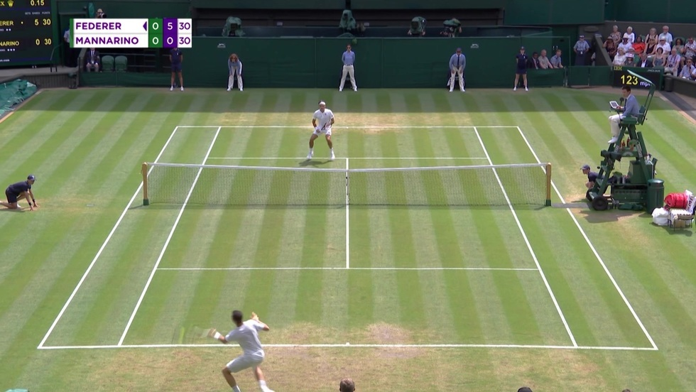 Roger Federer - Adrian Mannarino
